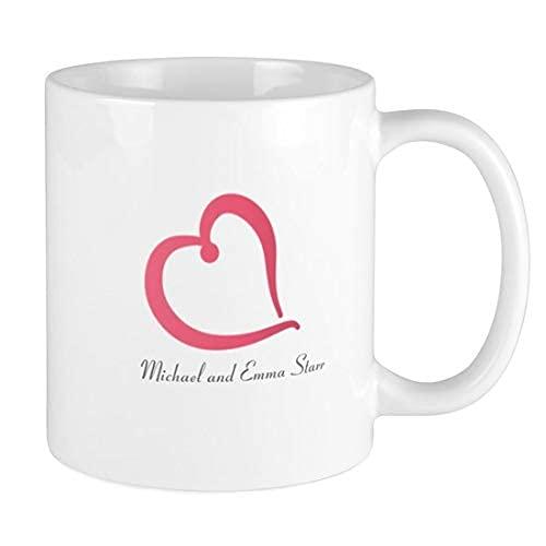 N\A Amor Personalizado con Texto, Taza de Regalo para Pareja, Regalo Idea para Novia Novio, Regalo Idea romántica - Taza de café de 11 oz