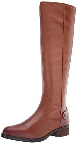 Steve Madden Jax Riding Boot - Wide Shaft Cognac Leather 8.5