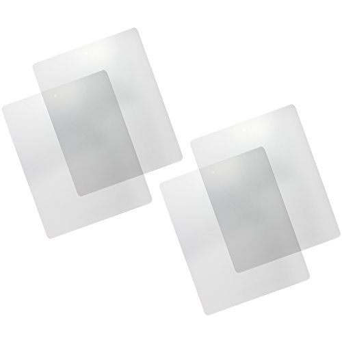 com-four® 4x Schneidematte, Schneidunterlage, Bastelunterlage, transparent & flexibel, 38 x 30,5cm