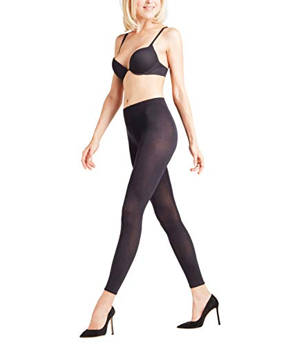 FALKE Damen Cotton Touch Leggings, Schwarz (Black 3009), M (40-42)