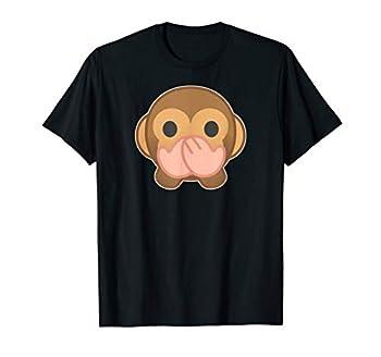 Speak No Evil Monkey funny Monkey emoji T-Shirt