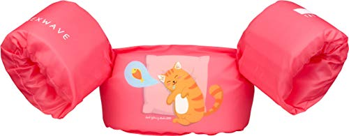 NEXWAVE Kids Life Jacket 30-50 Pounds for Boys/Girls Toddles, Floatie up to 50 lbs, Baby Float for Pool/Puddle/Sea Beach Playing and Jumpers (Red Cat)