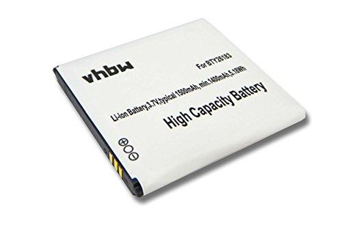 vhbw Akku kompatibel mit Wiko Blush, Cink Slim, Cink Slim 2, Iggy, N270, Sublim Handy Smartphone Handy (1500mAh, 3,7V, Li-Ion)