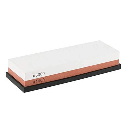 ELENXS 1000/3000 Edelkorund Professionelle Beidseitige Waterküchenschneider Stein, Beidseitige Wasserstein, 1000# / 3000# Sharpener Stein