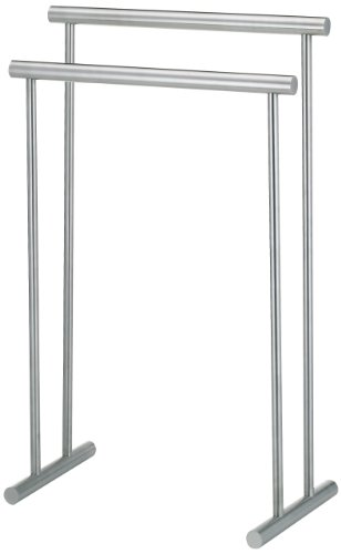 Kela 22690, Handtuchhalter Priamo, 2 Stangen, 18/10 Rostfreier Edelstahl, 56 cm Länge, Satiniert