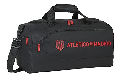 Safta Bolsa de Deporte de Atlético de Madrid Corporativa, 500x250x250 mm, Negro