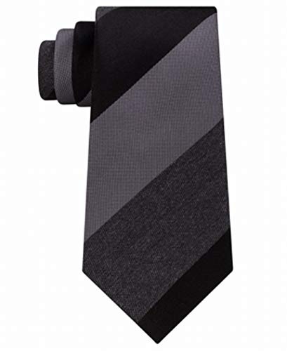 Kenneth Cole Reaction Mens Tonal Stripe Tie (Black)