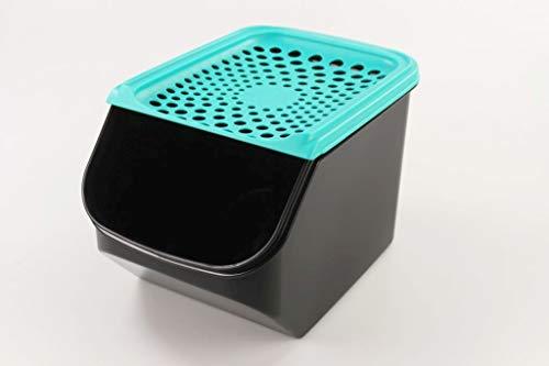 Tupperware Organizador Modular de 5,5L para cebollas y ajos Negro/Turchese Oscuro 34633