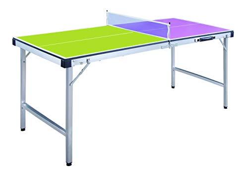 ODG Tavolo Ping Pong Pieghevole con Rete e Racchette Legno e Metallo