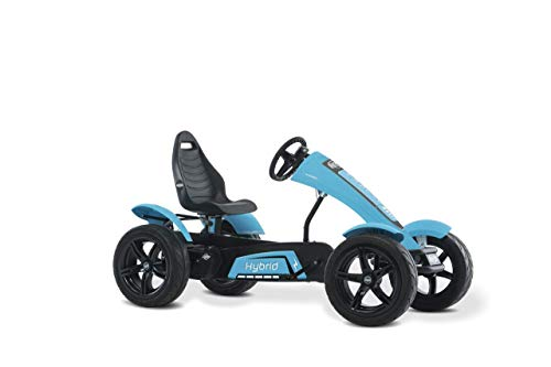 BERG Hybrid 250W E-BF Series Kids Pedal Go Kart Blue