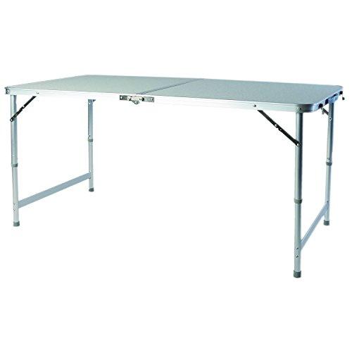 Mojawo Grote in hoogte verstelbare aluminium campingtafel klaptafel tuintafel camping met draaggreep reistafel L120xB60xH58/70cm