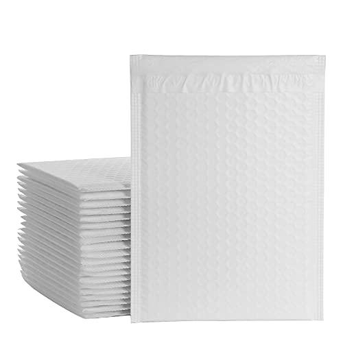 SHANQIAN 30PCS Enveloppes à Bulles 21×28CM/8.5x11inch Enveloppes Rembourrées Auto-scellantes, Imperméable, Enveloppes Matelassées Mailer Enveloppe Expedition Bulles pour Emballage - Blanc