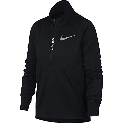 Nike Jungen Top Racer Half-Zip Longsleeve, Black, S