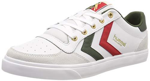 hummel Unisex-Erwachsene Stadil Low Sneaker, Weiß (White/Green 9208), 39 EU