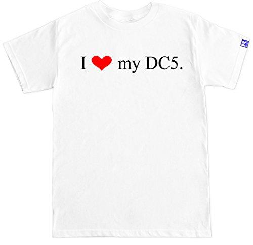 FTD Apparel Men's I Love My DC5 RSX Integra Type R Motor Engine JDM T Shirt-XXL White