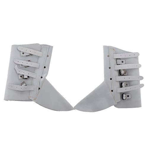 Tubayia Hitzebeständig Schweißschuhe Schweißer Schutzschuhe Arbeitsschuhe Schuhe Abdeckung (Weiß)