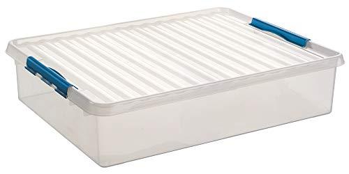 Sunware Q-Line Aufbewahrungsbox, transparent blau, 60Liter