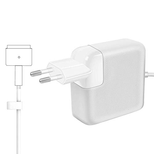 AndMore Cargador Compatible con MacBook Pro/Air 85W, Cargador MacBook, MagSafe 2 Forma de T Adaptador de Corriente Funciona con los Macbook 45W/60W/85W-13 15' 17'-Cargador para MacBook Mediados