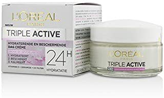 L'OREAL Triple Active Multi-Protective Day Cream 24h Hydration For Dry/ Sensitive Skin 50ml/1.7oz