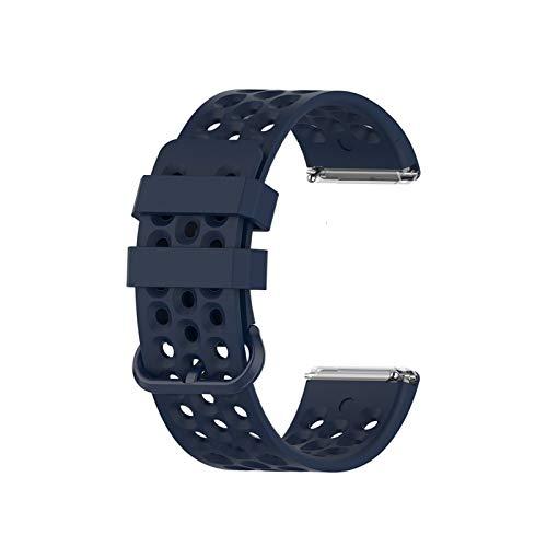 GZA Banda De Reemplazo para Versa 2 Strap Silicone Impermeable Wrist Sport Accessories Reloj Correa para Versa/Versa 2 Band (Color : Blue, Size : L (160 220mm))
