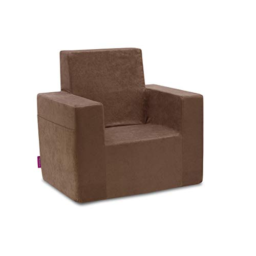 Classic Kindersessel Kinder Babysessel Baby Sessel Sofa Kinderstuhl Stuhl Schaumstoff Umweltfreundlich (Braun)