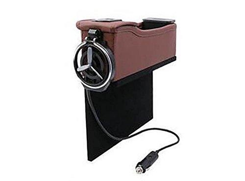 QXXZ Autostoel Zijvak Opbergdoos, Auto Stoel Filler Gap Organizer Met 2 USB Opladen Poorten, Opvouwbare Beker Houder & Multi-Functie Compartiment