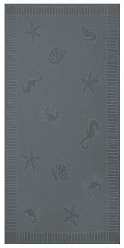 ZOLLNER Toalla de Playa Grande, 100x200 cm, algodón, Gris