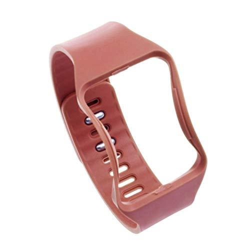 NICERIO Correa Deportiva Compatible con Reloj Samsung Gear s r750 Correa de Repuesto de Silicona Suave Pulsera Impermeable diseño de Moda Hombres Mujeres Compatible con Samsung (Naranja)