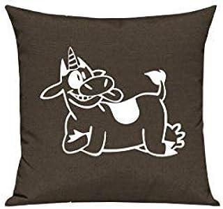 Sofa Kissen lustige Tiere mit Wunschnamen Einhornente Einhorn Ente