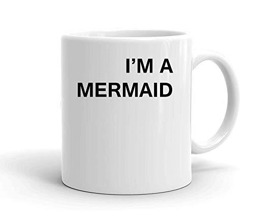 IDcommerce I'm A Mermaid Tasse en Céramique Blanche pour Le Thé Et Le Café