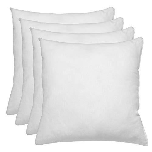 Relleno de cojin 60x60 Pack 4 Unidades / Relleno de Fibra Hueca conjugada siliconada Ideal para Rellenar Cojines Decorativos ,Cojines para Cama, Cojines de Sofa, almohadones