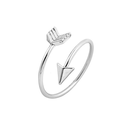 Daawqee Damen-Ring, New Classical Silver Color Arrow Ring Fashion Ring for Women Adjustable Engagement Wedding Gift Jewelry Dropshipping Silver Plated 6.5