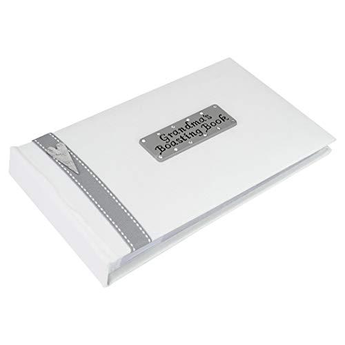 Metal Planet Ltd Album photo « Grandma's Boasting Book » pouvant contenir 40 photos de 15,2 x 10,2 cm – Ruban gris