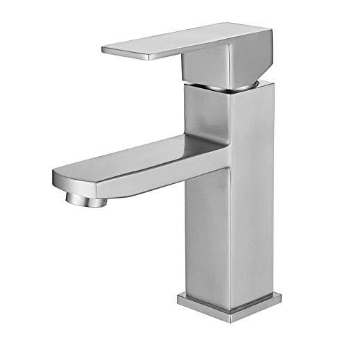 QIMEIM Baño fregadero recipiente grifo lavabo grifos lavabo grifo caliente y frío baño fregadero grifo para baño cocina grifo