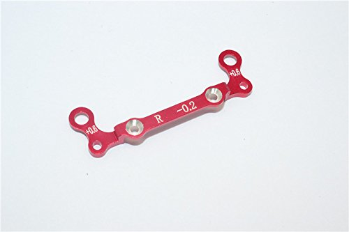 GPM Kyosho Mini-Z AWD Upgrade Pièces Aluminium Rear Knuckle Arm Holder Design (Toe Out 0.2mm, Thick 0.6mm) - 1Pc Red