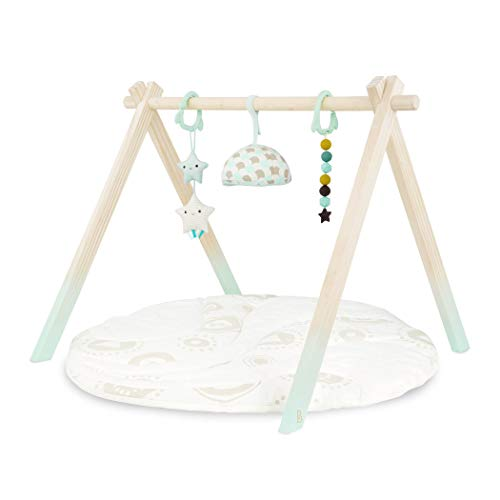 B. Wooden Baby Play Gym & Mat