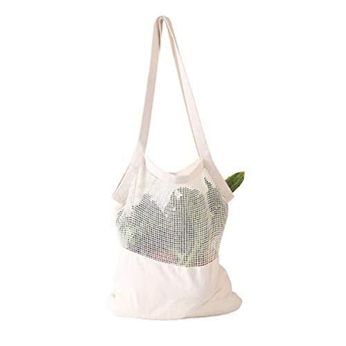 RNICE Bolsa de malla reutilizable respetuosa con el medio ambiente para frutas y verduras, bolsa de compras lavable