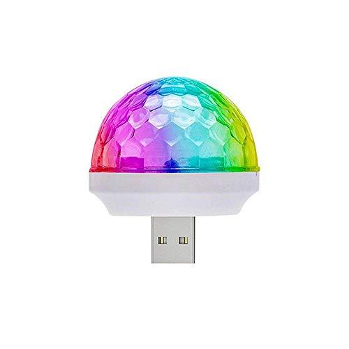 YOJOHUA LED Car USB Atmosphere Light, USB Disco Ball Party Light MINI Portable Strobe Lights for Kids Birthday Parties Stage DJ Lighting Disco Decoration