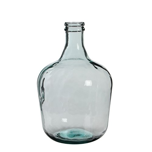MICA Decorations Diego Glasflasche/Vase, Glas, transparent, H. 42 cm D. 27 cm