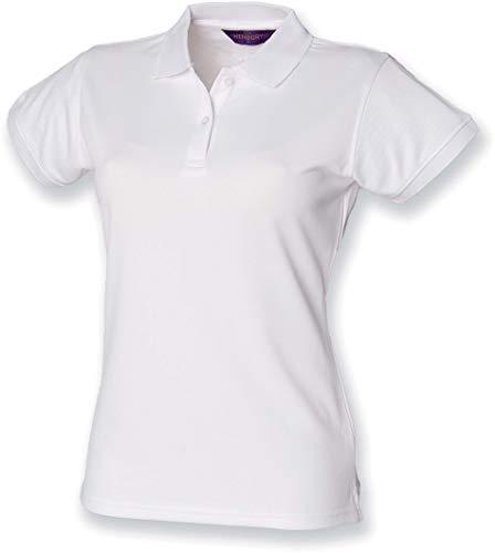 Henbury Coolplus ? Polo - Blanc - X-Large