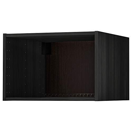 METOD koel/vrieskast bovenkast frame 60x40 cm houteffect zwart