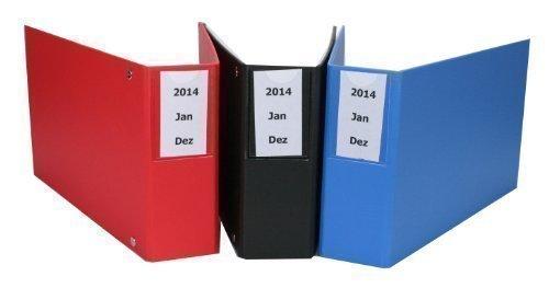 Bankauszugsordner/Ordner für Kontoauszüge mit Beschriftungstasche blau