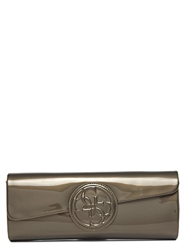 Guess Damen Amy Shine Clutch, lehmbraun