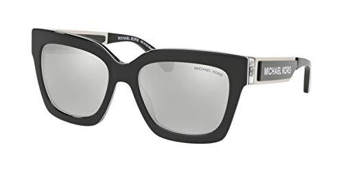 Michael Kors Damen 0MK2102 Sonnenbrille, Black/Silver, 54