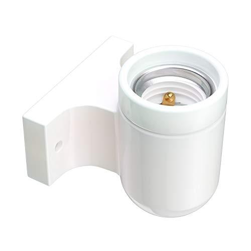 ledscom.com E27 Porcelain Wall Socket FEL, bianco