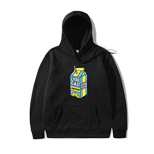 HOUADDY Lyrical Lemonade Rapper Saft Hoodies Hip Hop Sweatshirts Streetwear Für Männer Frauen,Schwarz,M