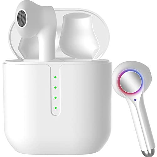 Écouteur Bluetooth 5.2 Écouteurs sans Fil Stéréo Casque 42H de Lecture Oreillette Wireless avec 2 Mic Charge Ultra-Rapide USB-C Toucher Intelligent IPX7 Étanche pour iPhone Huawei