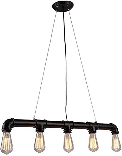 candelabro LQ 5 arañas Individuales Retro Tubería de Agua de Metal Colgante Luz de Techo E27 / E26 Bar Café Decoración Lámpara de Techo
