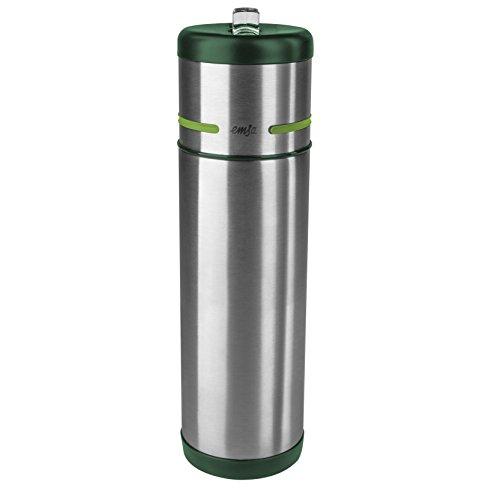 Emsa 512963 MOBILITY - Gourde isotherme, acier inoxydable, embout pour boire intégré, 500 ml, acier/vert/vert clair