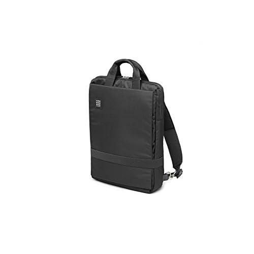 Moleskine Vertical ID Zaino Tracolla Porta PC e Tablet, con Materiale Impermeabile Resistente all'Acqua, Nero